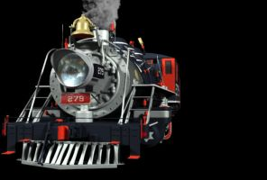 3D Ferrocarril 279 tren01 by equisce