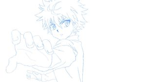Killua Sketch by codeobsidian