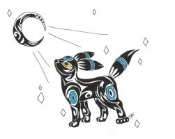 tribal shiny umbreon by neodragonarts