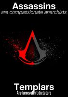 The Difference Between Assassins and Templars by guitargirlsings