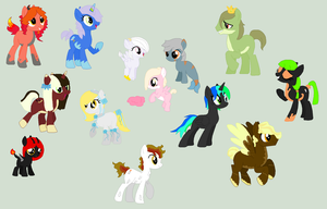 .: Adopted Pony OC's :. by EpiclyAwesomePrussia