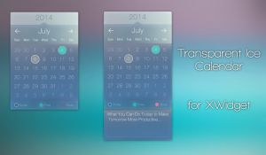Transparent Ice Calendar for xwidget by jimking
