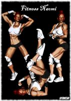 Fitness Competitor Naomi 2 by Stone3D