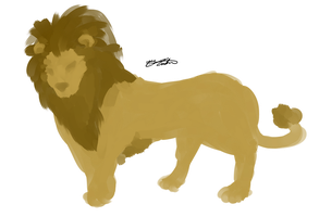 Minimal Lion by Ziiteara