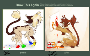 Draw this again- Paint by kingingly