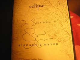 My signed book of Eclipse by Sugargrl14