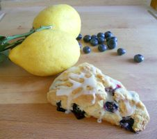 Lemon Blueberry Scones by Efreet-in-the-Oven