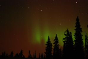 Northen Lights from Luosto in Finland by mhzawadi