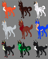 Wolves Adoptions Part 3 by LilChibiOokamiMango