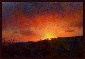 Textured Sunset by RavenMaddArtwork