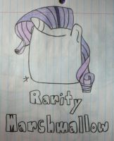 Request: Rarity as Marshmellow!!! by TopazBeats