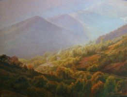 Autumn in the Rhodope mountains by AnatolyPanagonovART