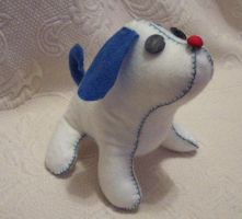 little felt puppy by silentorchid