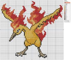 146 - Moltres by Makibird-Stitching