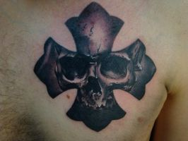 skull and cross by scottytat2