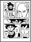 Goku vs Saitama - Serious Staring Training by Fedexassassin