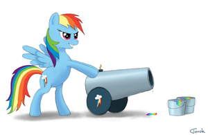 Rainbow Cannon by Ter0k