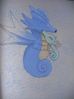 Seadra and Horsea by DreamDrifter91