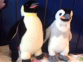 Happy Feet Fluffless and Regular Mumble Plushies by Se7J-r