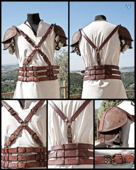 Leather Harness + Shoulder Armor by Adhras