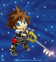 ginilla chibi sora colored by BlueValkyrie