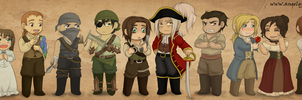 Pirate!Amnesia Lineup by AngelQueen13