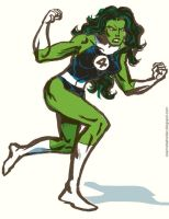 Fantastic Four She-Hulk by TheCosmicBeholder