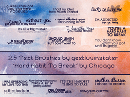 Text Brushes - Chicago Lyrics by geekluvinskater