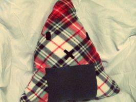 Plaid Rice Ball Pillow by Pseudo-Jen