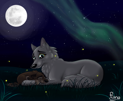 Balto and Mummy Under the Stars by Elana-Louise