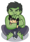 Commish: Hulk Snuggle by ecokitty