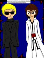 WESKER AND AIZEN by moonstar4444
