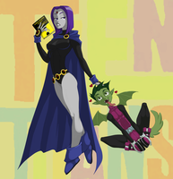 Raven and BB by Flick-the-Thief
