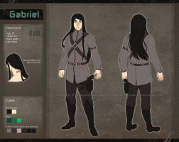 Reference sheet commission: Gabriel by Luciana-Lu