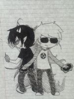 Homestuck (Dave and Sollux) by ILostTheGame123