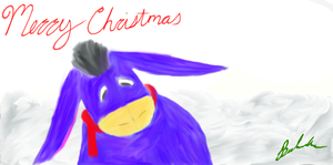eeyore christmas by Kitten041311