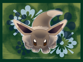 Pokemon Green: Original Eevee by WeisseEdelweiss