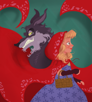 Little Red Riding Hood and The Wolf by DylanBonner