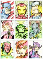 Avengers Cards in Color by piotrov