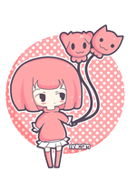 Pink Haired Chibi Girl by anicsim2
