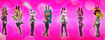 Gift for NeoNimbus526 : Bunny Gals :3 by henrykhaung
