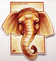 Elephant ACEO by soulwithin465
