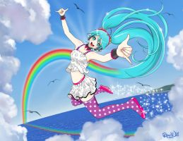 Miku's ReDial Rainbow by Randwill