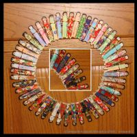 Clothespin Kokeshi Wreath by minami63