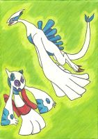 Lugia and Froslass by VioletPlacek