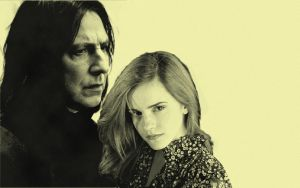 Hermione and Snape Background by rouquinamour