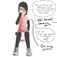 Sharingan Troubles for Sarada by TheOwlcan