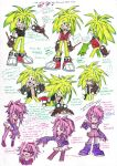 Sonic Underground_Redesign Manic and Sonia by DawnHedgehog555