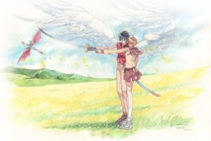 Vision of Escaflowne: Hand in Hand in Sword by Nick-Ian