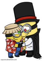 Commission - Minions - Magician and Tourist by caycowa
